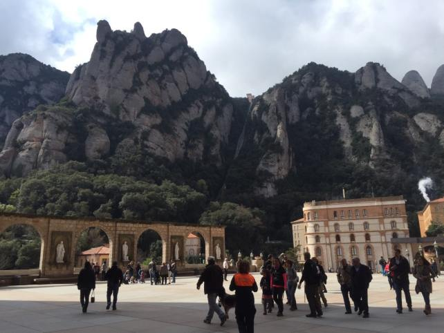 "The Plaza by the Basilica also has great views of the mountains. - ""Montserrat: Mountain, Monastery, and Wine"" - Two Traveling Texans"