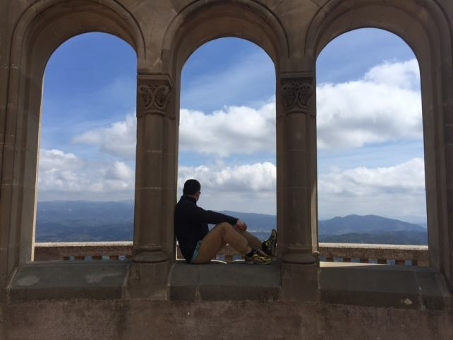 "Russell enjoying the views. - ""Montserrat: Mountain, Monastery, and Wine"" - Two Traveling Texans"