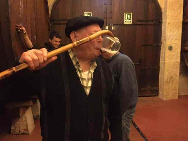 "Ilario drinking using his cane - ""Cider House Rules"" - Two Traveling Texans"