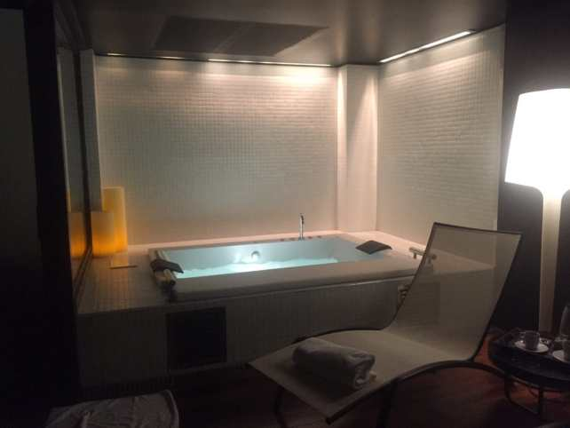 The aqua wellness room was so peaceful and relaxing.