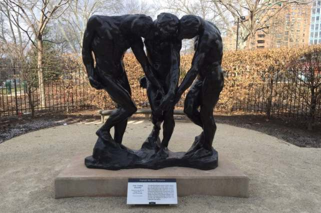 "The Three Shades stand in the Garden on the side of the Rodin Museum. - ""Rodin Around the World"" - Two Traveling Texans"