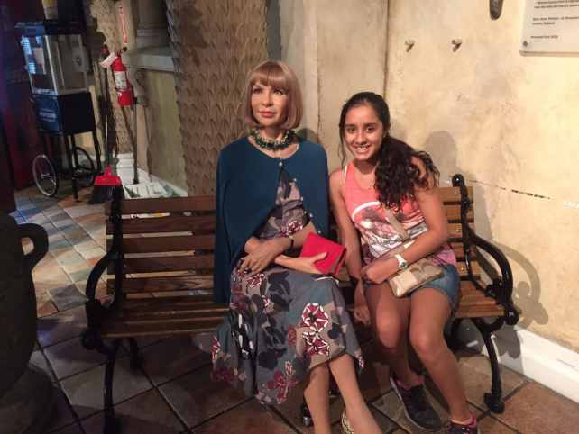 Aanya with Anna Wintour, the famous editor of Vogue