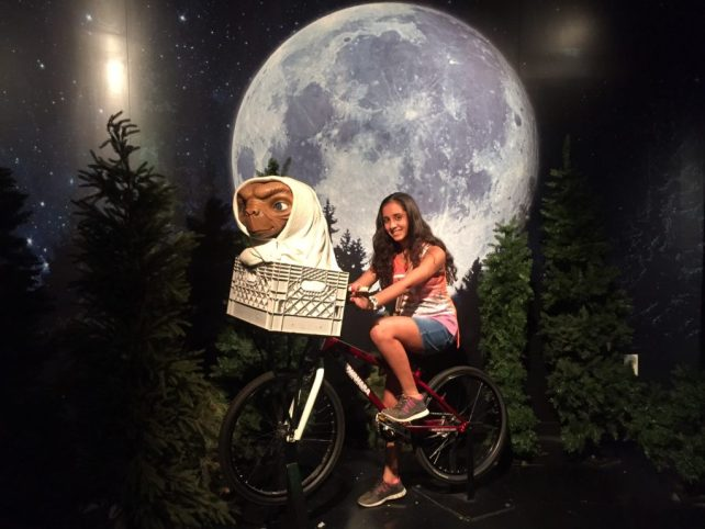 "Aanya with ET - ""Madame Tussauds NYC Ghostbusters Dimensions Experience"" - Two Traveling Texans"