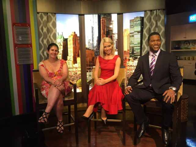 "Anisa with Kelly Ripa and Michael Strahan. This will need to be updated soon! - ""Madame Tussauds NYC Ghostbusters Dimensions Experience"" - Two Traveling Texans"