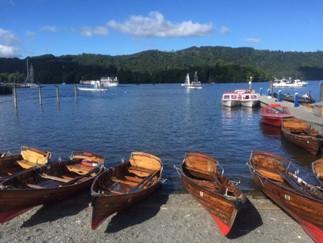 "The shores of Lake Windermere by the pier in Bowness. - ""An Introduction to England's Lake District"" - Two Traveling Texans"