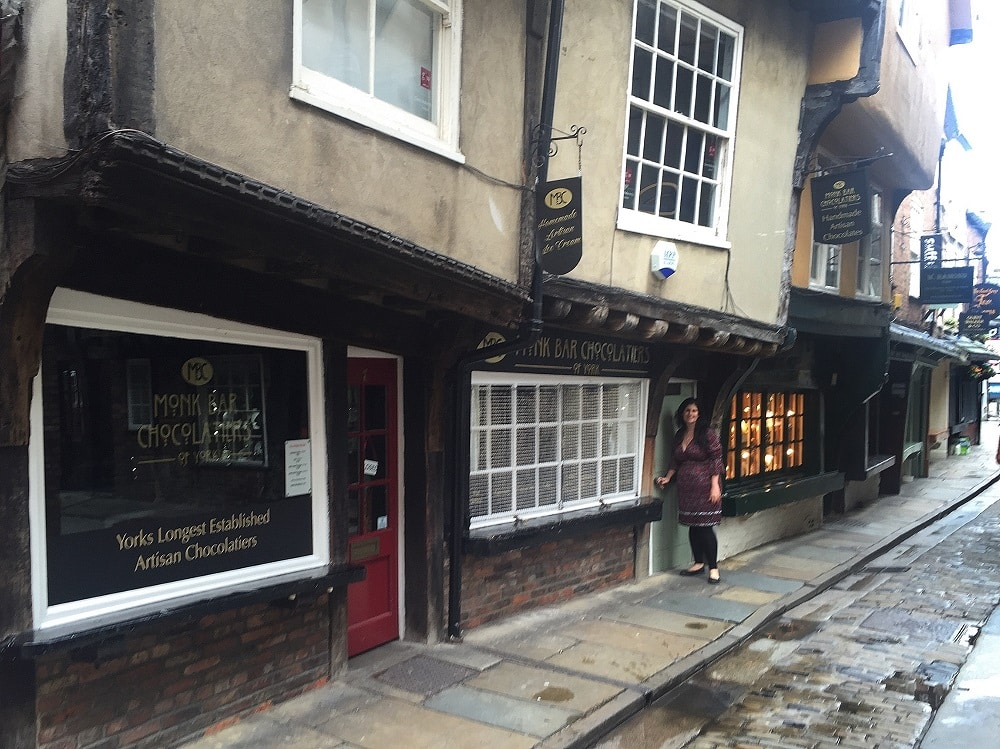 "Anisa on the Shambles. We were there early so it was nice and quiet! - ""York: Five Must See Historic Sites"" - Two Traveling Texans"