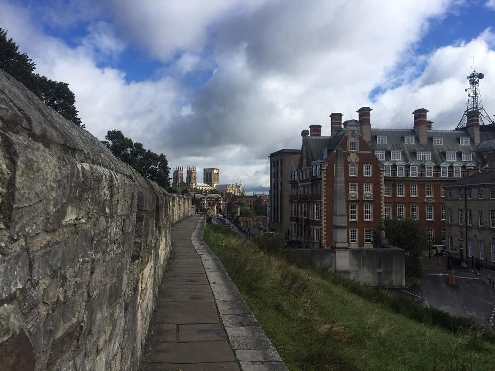 "Parts of the York Wall Walk are a bit narrow. - ""York: Five Must See Historic Sites"" - Two Traveling Texans"
