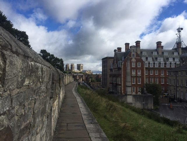 """Parts of the York Wall Walk are a bit narrow. - """"York: Five Must See Historic Sites"""" - Two Traveling Texans"""