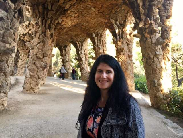"""Anisa in Park Guell. - """"Why I Fell in Love With Gaudi in Barcelona"""" - Two Traveling Texans"""