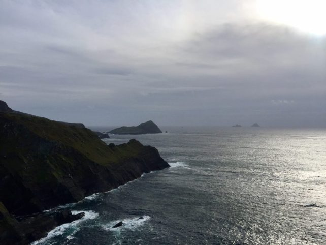 """This was a close as we got to Skelig Michael. You can see it way off in the distance. - """"Why You Must Do the Ring of Kerry at Least Once in Your Lifetime"""" - Two Traveling Texans"""