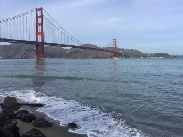 "The Golden Gate Bridge is just so iconic and arguably the most beautiful bridge in the world. - ""Biking Across the Golden Gate Bridge: Another off my Bucket List!"" - Two Traveling Texans"