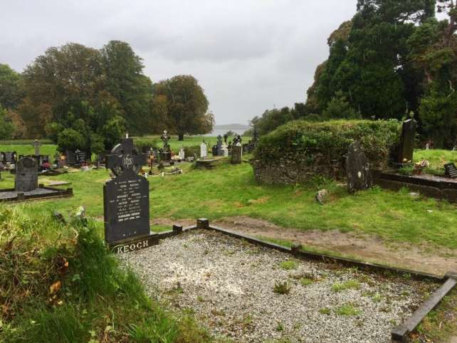 """If it wasn't raining, I would have liked to spend more time exploring the cemetery outside Muckross Abbey. - """"What to See When You Visit Killarney National Park"""" - Two Traveling Texans"""
