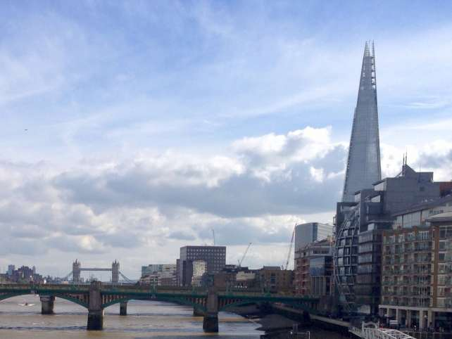"The Shard and the Tower Bridge in the background. - ""UK Registered Traveller: Speed through Airport Immigration"" - Two Traveling Texans"