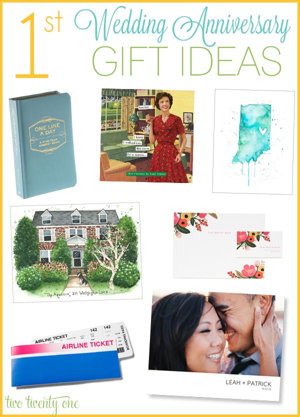 1st Wedding Anniversary Gift Ideas Paper Wedding