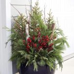 Outdoor Planter For Christmas And Winter Decoration