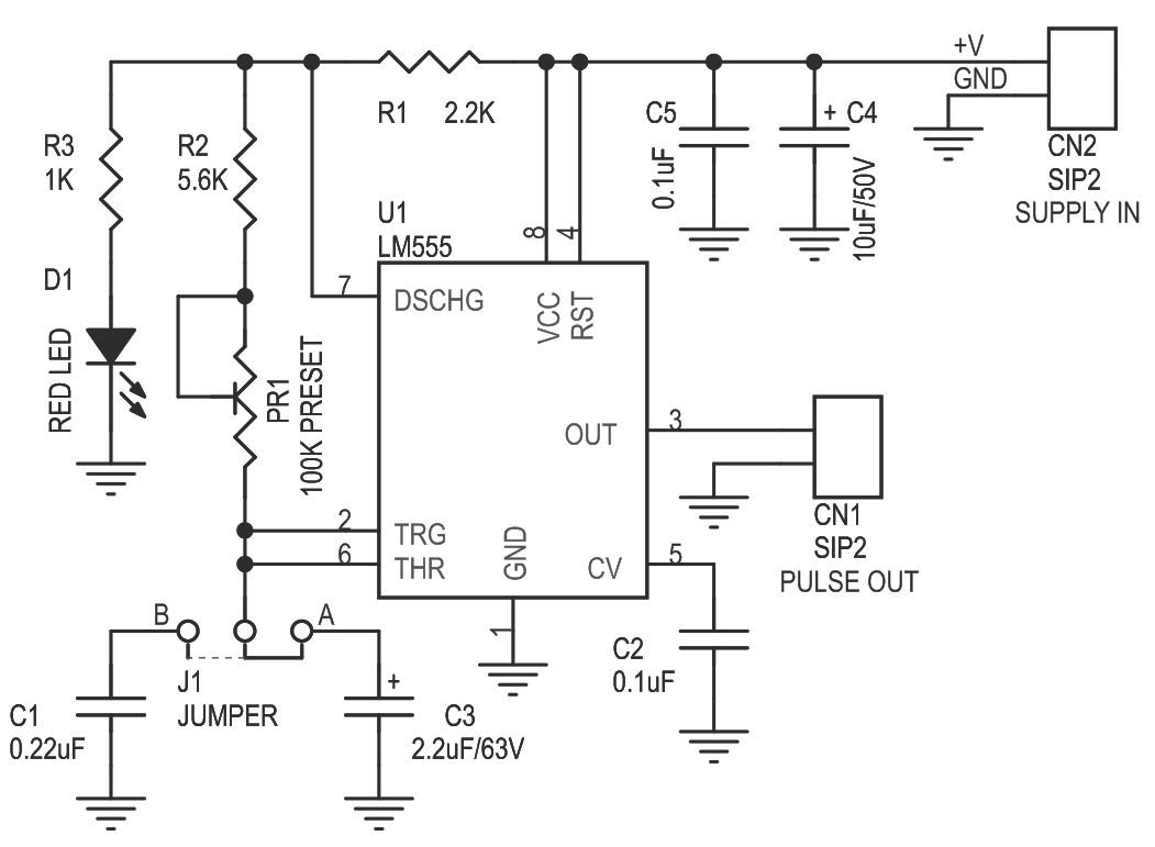 Pulse Generator For Stepper Motor Driver Using 555 Ic Cmos Or Ttl