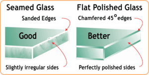 seamed vs polished mirror