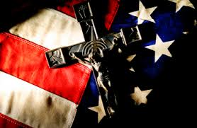 Flag and Crucifix