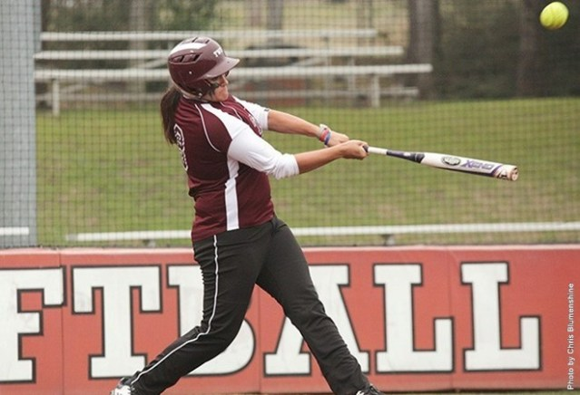 Tori Brice swings at a pitch during a recent Pioneer softball game.