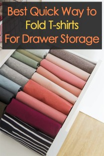 Best Quick Way to Fold T-shirts For Drawer Storage