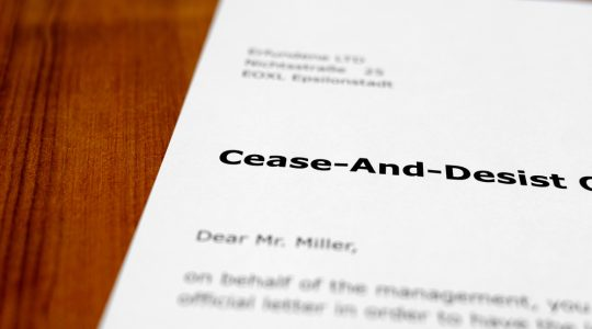 Respond To A Cease And Desist Letter