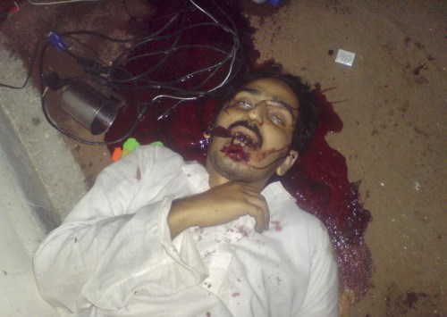 The unidentified body of a man is seen after a raid by U.S. Navy SEAL commandos on the compound where al Qaeda leader Osama bin Laden was killed in Abbottabad, May 2, 2011. Bin Laden was killed in the U.S. special forces assault on the Pakistani compound, then quickly buried at sea, in a dramatic end to the long manhunt for the al Qaeda leader who had been the guiding star of global terrorism. Picture taken May 2, 2011.   REUTERS/Stringer