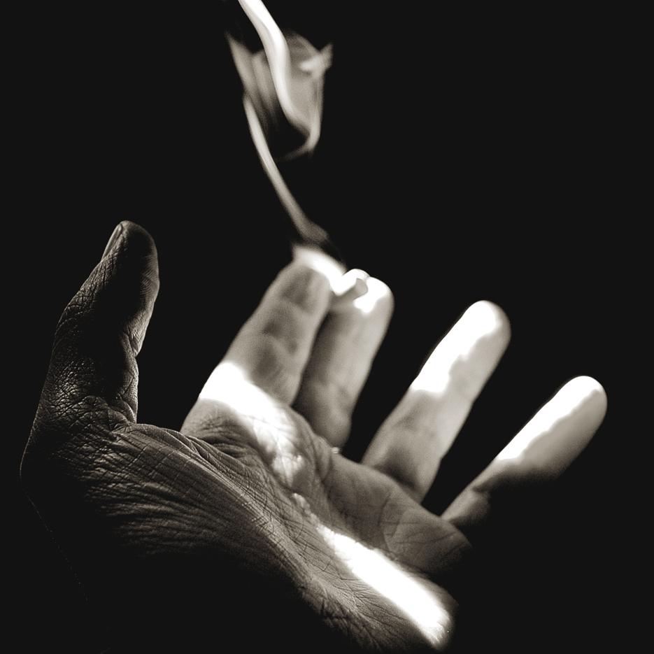 Mi mano izquierda en los años de fumador, en una habitación de hotel de Madrid