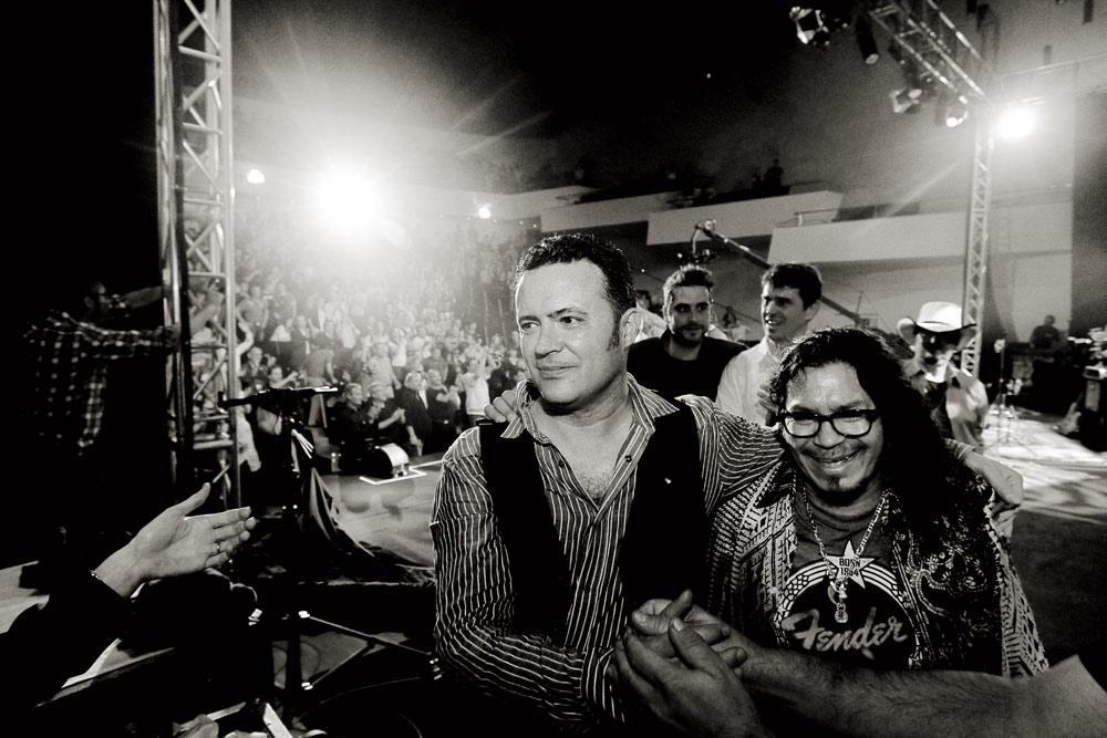 José y Raimundo,  al final del concierto