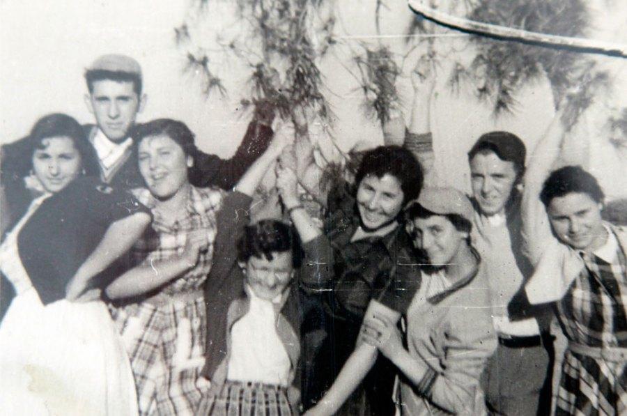 Algunos de los protagonistas de esta historia, a finales de los años 50