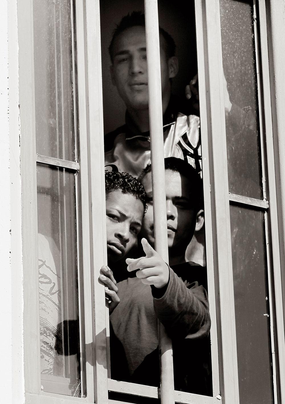 Un grupo de presos en el interior de la prisión de Picassent. Abril de 2011.