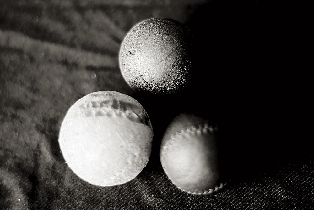 Las pelotas blandas con las que entrena tres veces a la semana.