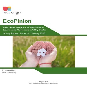EcoPinion: New Vision Required To Better Serve Low Income Customers in Utility Sector