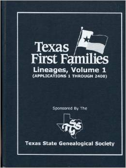 Certificate First Families of Texas