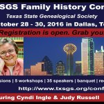 TxSGS 2016 Conference Register Now