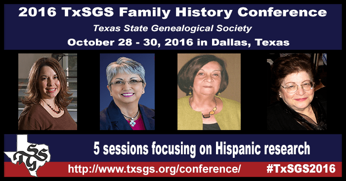 TxSGS 2016 Conference Hispanic Research