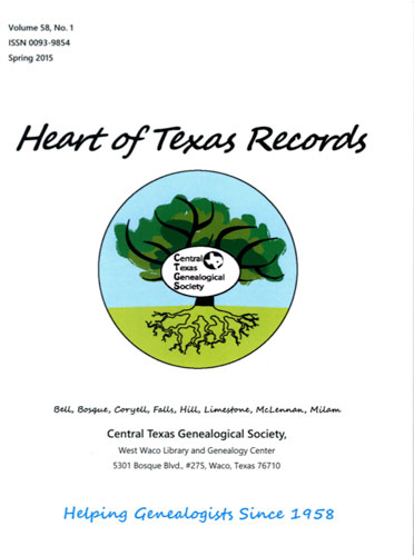 2016 Quarterly Winner Central Texas Genealogical Society