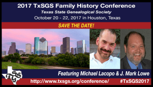 TxSGS 2017 Save the Date promo graphic