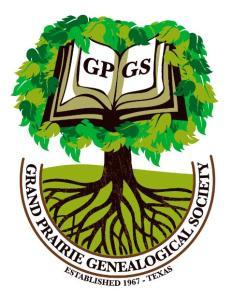 Grand Prairie Genealogical Society logo
