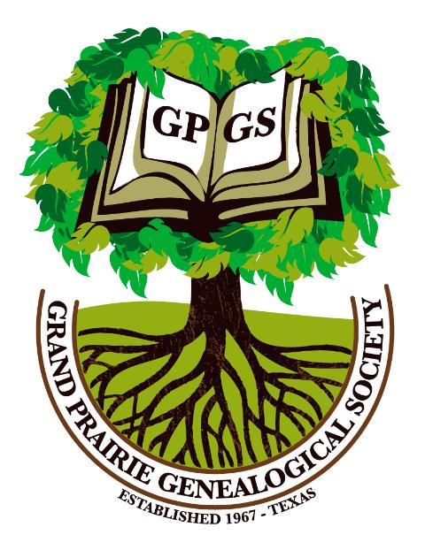Grand Prairie Genealogical Society logo