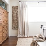 Master Bedroom After Drop Cloth Curtains Txsizedhome