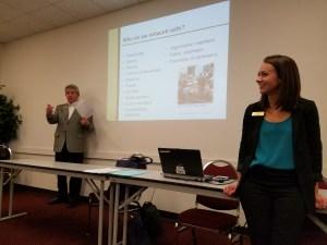 Career advisors Sam Heimbach and Bruce Howard