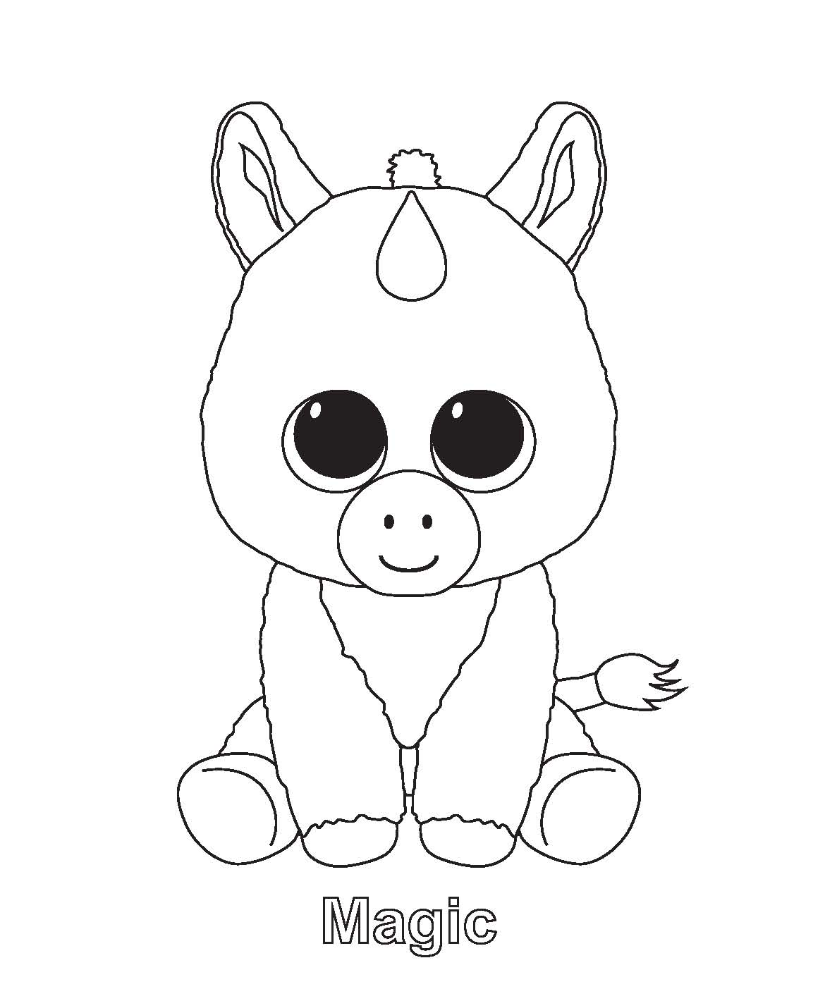 coloring pages of ty beanie