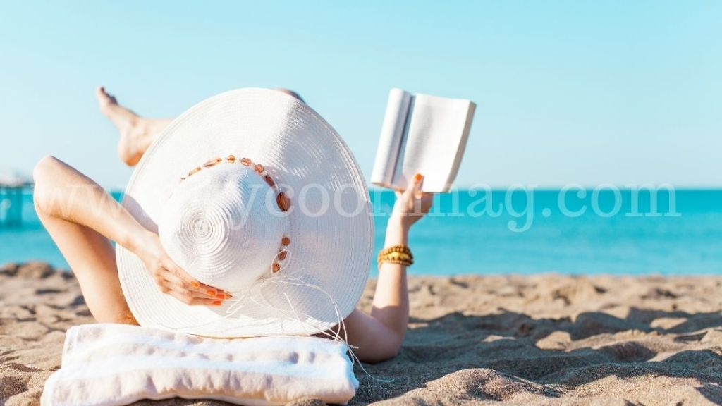 woman by the beach photo