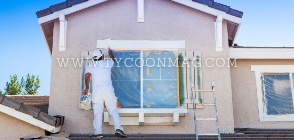 painter painting house exterior