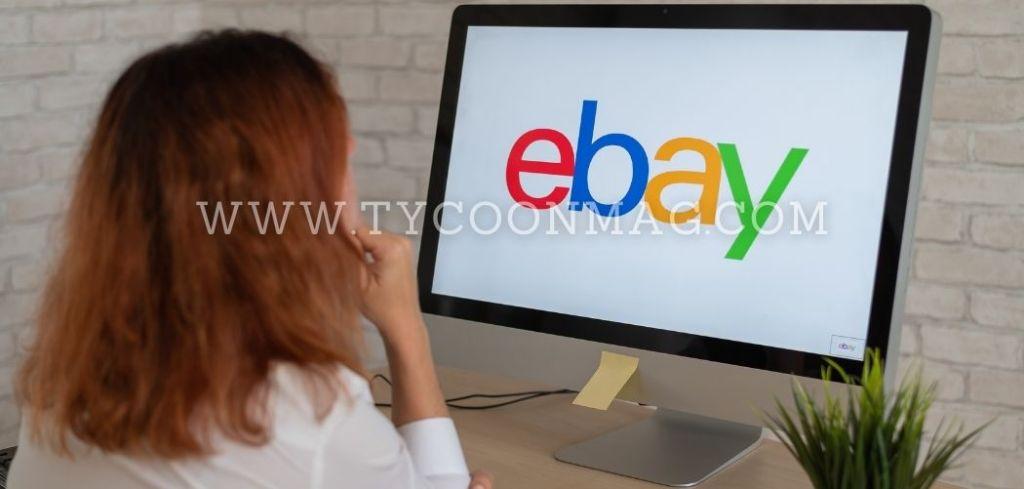 woman selling on ebay