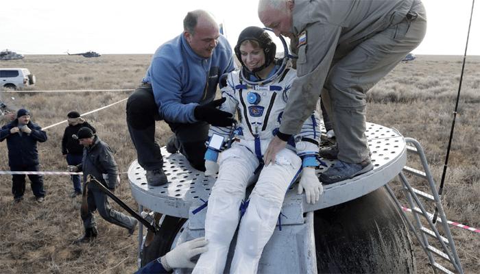 astronauts to ground