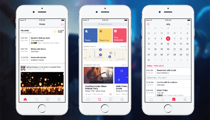 Facebook Released Event app, just for Helping you find Stuff to do