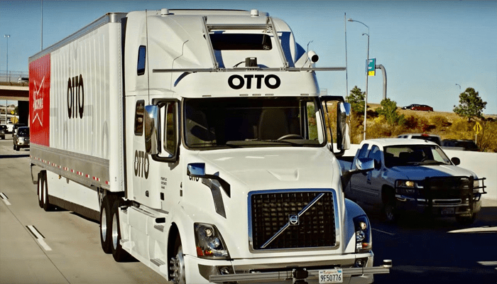 Self-Driving Truck Delivers Budweiser