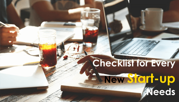 Checklist for every new Start-up needs