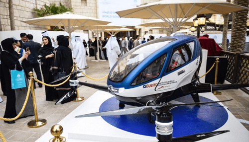 Passenger Carrying drones testing the skies in Dubai